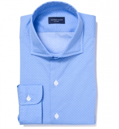 Light Blue Pindot Print Tailor Made Shirt
