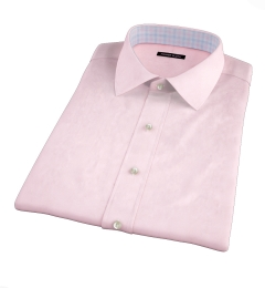 Pink Wrinkle-Resistant Cavalry Twill Short Sleeve Shirt