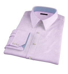 Hudson Lavender Wrinkle-Resistant Twill Custom Made Shirt