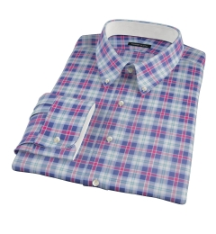 Vincent Blue Red Green Plaid Dress Shirt