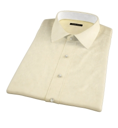 Bowery Yellow Wrinkle-Resistant Pinpoint Short Sleeve Shirt