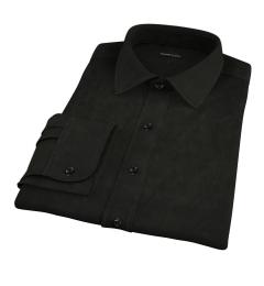 Black Broadcloth Tailor Made Shirt