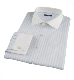 Canclini Light Blue Awning Stripe Custom Made Shirt