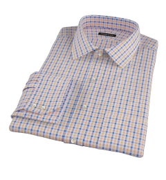 Orange and Blue Gingham Custom Made Shirt