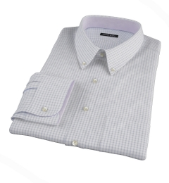 Canclini Grey Multi Grid Men's Dress Shirt