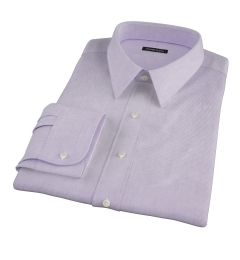 Thomas Mason Lavender Mini Grid Fitted Shirt