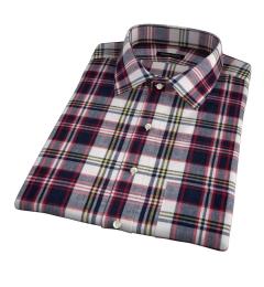 Dorado Navy Plaid Short Sleeve Shirt