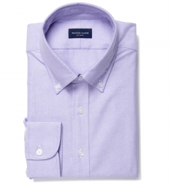 Lilac Heavy Oxford Men's Dress Shirt