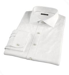 White Wrinkle-Resistant 100s Twill Custom Dress Shirt