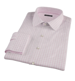 Pale Pink Gingham Custom Made Shirt