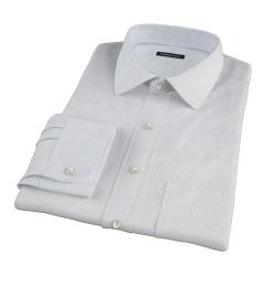 Mercer Light Blue Medium Grid Fitted Dress Shirt