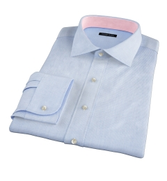 Carmine Light Blue Mini Grid Fitted Shirt