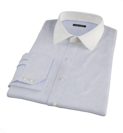 Portuguese Blue Stripe Seersucker Tailor Made Shirt