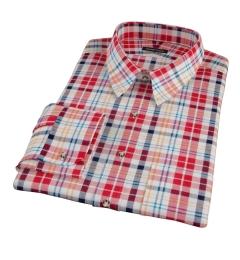 Red Orange Blue Madras Custom Made Shirt