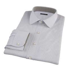 Canclini Grey 120s Mini Gingham Tailor Made Shirt