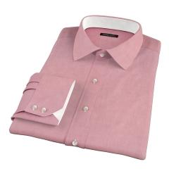 Red Heavy Oxford Men's Dress Shirt