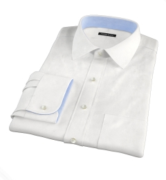 Canclini White Imperial Twill Fitted Dress Shirt