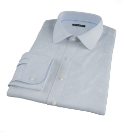 Canclini Light Blue Imperial Twill Fitted Shirt