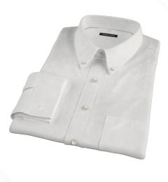 Albini White Twill Custom Made Shirt