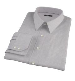 Light Grey Heathered Flannel Men's Dress Shirt