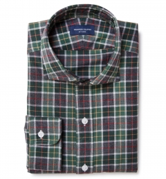 Green Dock Street Flannel Fitted Shirt