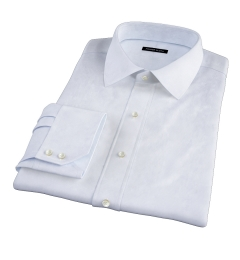 Canclini Light Blue Fine Stripe Fitted Dress Shirt