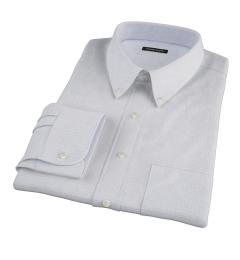 Thomas Mason Goldline Blue Tattersall Custom Dress Shirt
