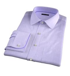 Firenze 120s Lavender Multi Grid Tailor Made Shirt