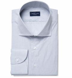 Canclini 100s Grey End on End Check Custom Made Shirt