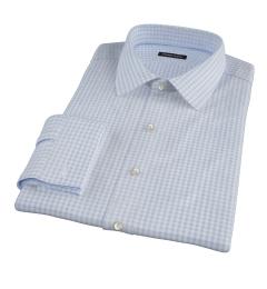 Canclini Sky Gingham Flannel Custom Dress Shirt