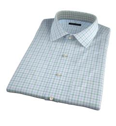 Thomas Mason Green Multi Check Short Sleeve Shirt