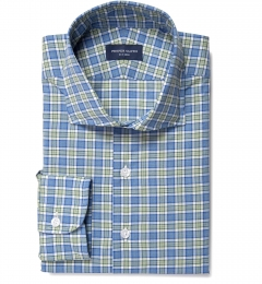 Sullivan Green Melange Check Custom Dress Shirt