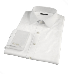 Greenwich White Twill Men's Dress Shirt