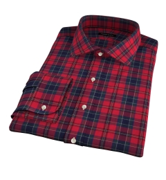 Wythe Red and Navy Plaid Dress Shirt
