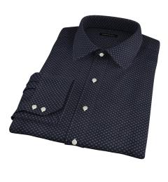Black Japanese Flower Print Men's Dress Shirt