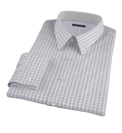 Canclini Cinder Gingham Lightweight Flannel Custom Made Shirt