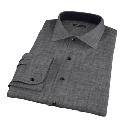 Black Denim Fitted Shirt