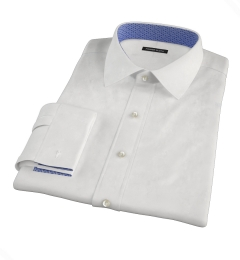 White 100s Broadcloth Custom Made Shirt
