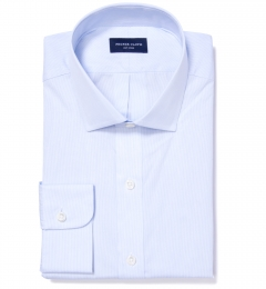 Canclini Light Blue Fine Stripe Custom Made Shirt