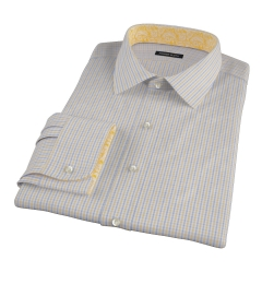 Yellow Davis Check Dress Shirt