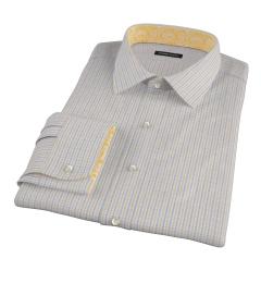 Yellow Davis Check Dress Shirt