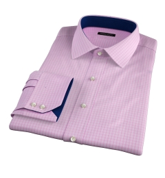 Chambers Pink Wrinkle-Resistant Check Tailor Made Shirt
