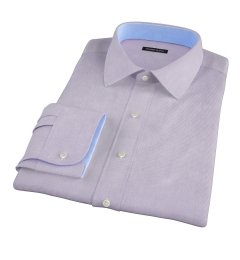 Carmine Lavender Mini Grid Tailor Made Shirt
