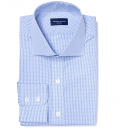 Grandi and Rubinelli 120s Light Blue Check Dress Shirt