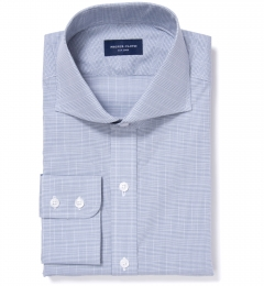 Carmine Grey Glen Plaid Custom Made Shirt