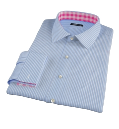 Carmine Blue Reverse Bengal Stripe Custom Made Shirt