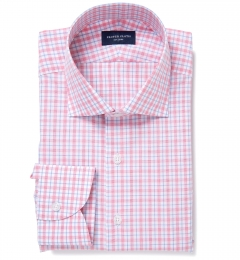 Novara Hibiscus and Blue Multi Check Fitted Shirt