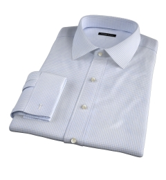 Thomas Mason Goldline Light Blue Check Custom Made Shirt
