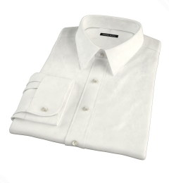 Canclini Cream Beacon Flannel Fitted Shirt