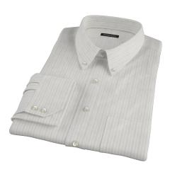 Lavender Grey Dobby Stripe Men's Dress Shirt